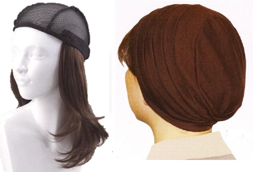 おしゃれウィッグキャップ【天使の帽子】ロングヘアー(医療用・簡単取外 し付け髪帽子)帽子191シリーズ 抗がん剤脱毛対策