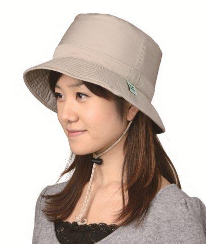 頭保護帽子 つまづきや転倒から頭をガードおしゃれ保護帽子【おでかけヘッドガード】:KM-1000Bサファリタイプ
