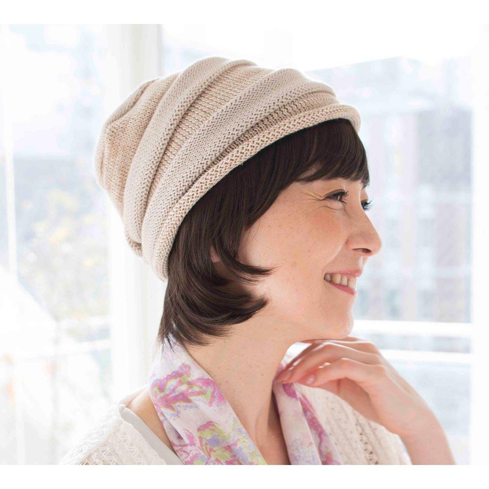 【前髪付きタイプ】お気に入りの帽子にセットするだけおしゃれ医療用ピース インナーキャップ一体型前髪つきナチュラルショートスタイル MW-C111
