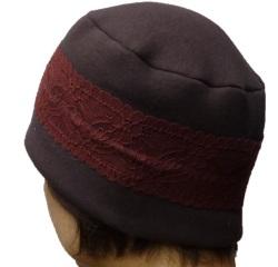 医療用帽子おしゃれヘアキャップ【天使の帽子】22002 三重構造に上品なレースのあしらい 医療用キャップ 日本製