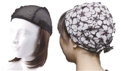 おしゃれウィッグキャップ【天使の帽子】ミディアムヘアー(医療用・簡単取外 し付け髪帽子)帽子281シリーズ