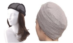 おしゃれウィッグキャップ【天使の帽子】ロングヘアー(医療用・簡単取外 し付け髪帽子)帽子282シリーズ 抗がん剤脱毛対策