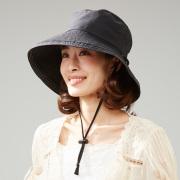 飛ばされにくいサファリ風帽子  帽子 レディース サファリハット 春 夏 UVカット ハット つば広 紫外線 対策 折りたたみ