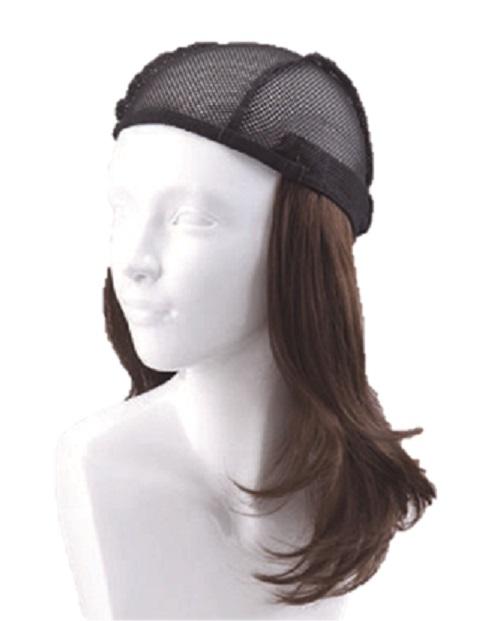 『お気に入りの帽子にセットするだけ【簡単取外し式付け髪・医療用ウィッグ】』ロング 抗がん剤脱毛対策