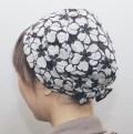 医療用帽子おしゃれヘアキャップ【天使の帽子】281ふわっとエレガント花柄(スタイリッシュコットン) 医療用キャップ 日本製