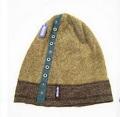 OUTDOORホック付きカットソーワッチ 男女兼用 リブニットコットンワッチ帽