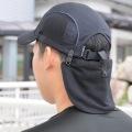 ヘルメット帽子等にクリップで装着!首の日焼け防止冷却に最適〜ひんやりフラップNEW 猛暑対策 熱中症対策