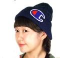 【Champion】ドラロン綿さがら刺繍ダブルワッチ チャンピオンコットンニット帽492-1086  綿ニットワッチ