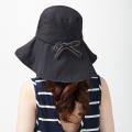 りぼんde調節UVカットつば広帽子 UVカット つば広 帽子 紫外線対策