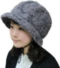 頭保護帽子 つまづきや転倒から頭をガードおしゃれ保護帽子【おでかけヘッドガード】:KM-1000K アンゴラハットタイプ