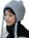 頭保護帽子 つまづきや転倒から頭をガードおしゃれ保護帽子【おでかけヘッドガード】:KM-1000L ニットキャップタイプ