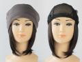 おしゃれウィッグキャップ【天使の帽子】ミディアムヘアー(医療用・簡単取外 し付け髪帽子)帽子191シリーズ 抗がん剤脱毛対策