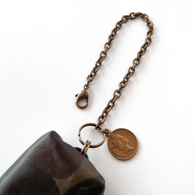 追加オプション バッグチャーム(迷彩 コイン)