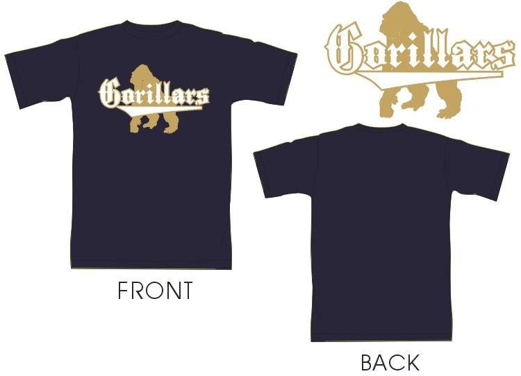 【送料無料】 GorillarsTシャツ★受注生産 限定販売★ ゴリスポ選手 応援企画☆