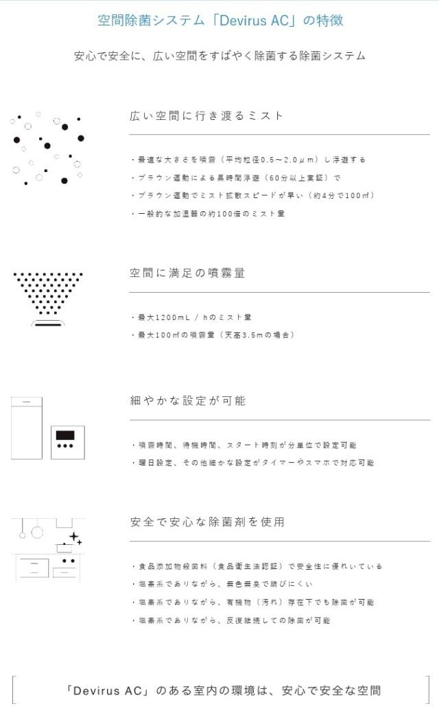 デヴィルスac 【送料無料】 空間除菌システム