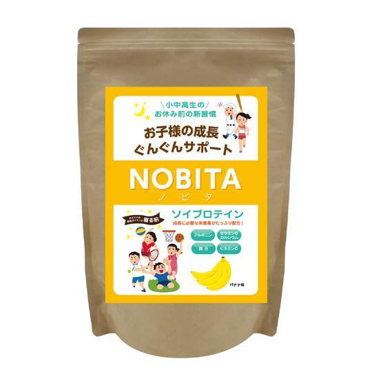 NOBITA ソイプロテイン - バナナ味 600g