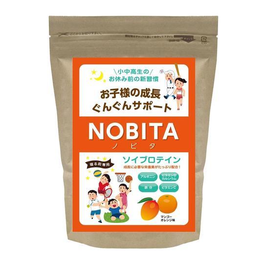 NNOBITA ソイプロテイン-マンゴーオレンジ味 600g
