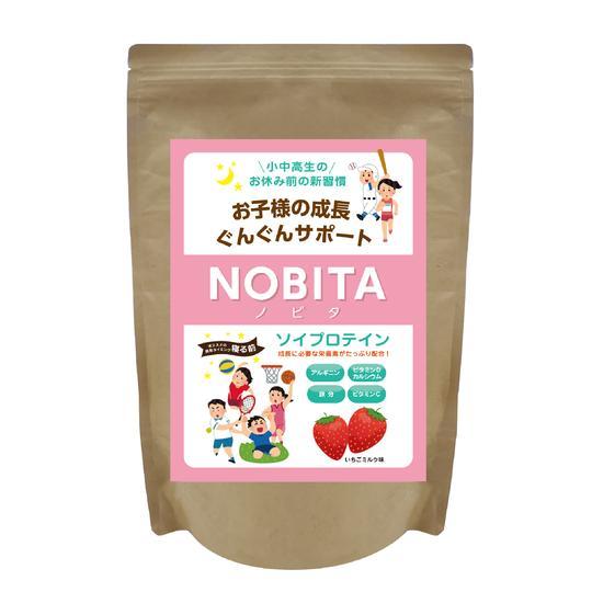 NOBITA ソイプロテイン - いちごミルク味 600g