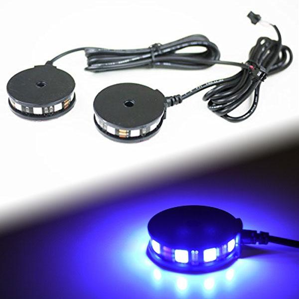 【メール便対応】 LEDラウンドイルミネーションライト 360° 2個セット パープル