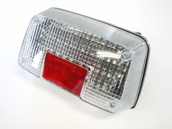 GSX400Sカタナ GSX250Sカタナ用LEDテールランプ クリアレンズ 刀 ナンバー灯付き