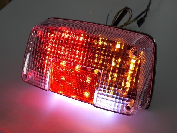 GSX400インパルス用 LEDウインカー付きテールランプ クリアレンズ ナンバー灯付き