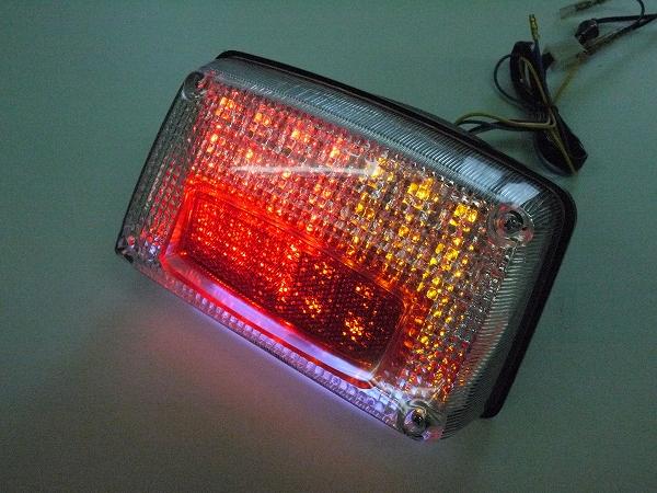 GSX1100S GSX750Sカタナ用 LEDウインカー付きテール クリアレンズ ナンバー灯付き