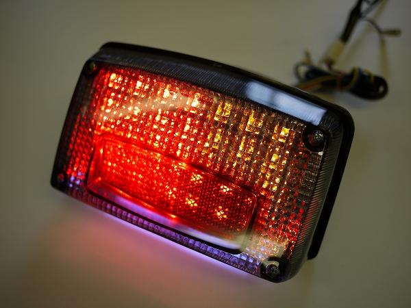 GSX1100S GSX750Sカタナ用 LEDウインカー付きテール スモークレンズ ナンバー灯付き