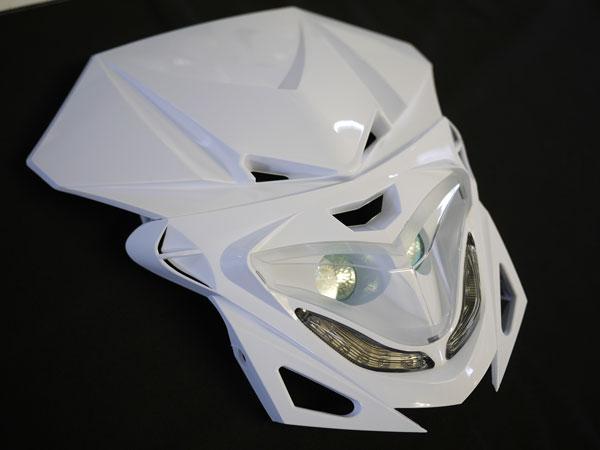 ストリートエッジヘッドライト 白 LED付き汎用
