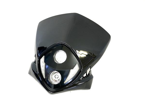 LEDエンデューロヘッドライト2 黒 汎用