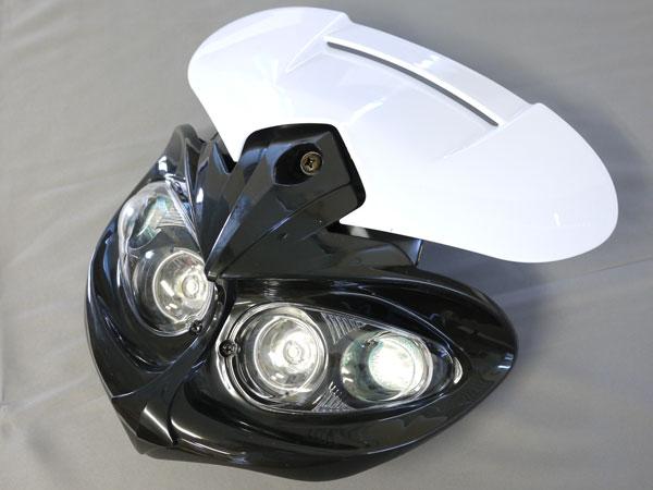 LEDイーグルアイヘッドライト 黒/白S 汎用