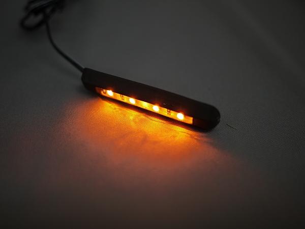 【メール便対応】 LEDラバーウインカー 曲面OK ソフトラバー製