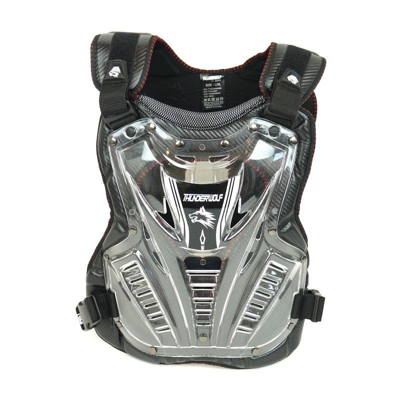 [THNDER WOLF] 胸部プロテクター AR01チェストガード S/M サンダーウルフ ハンティングウルフ バックガード 黒 ブラック