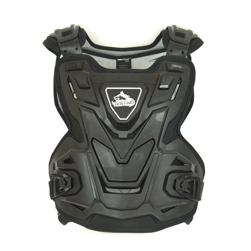 [HUNTING WOLF] 胸部プロテクター AR09チェストガード フリーサイズ ハンティングウルフ バックガード 黒 ブラック