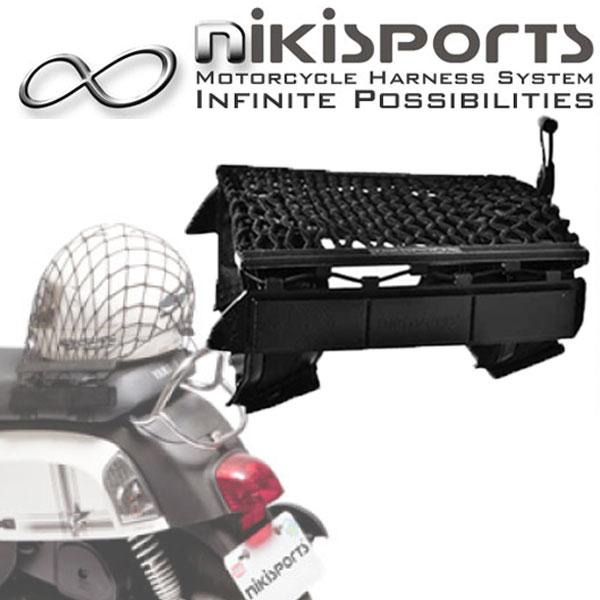 【nikisports】ユニバーサルハーネス付ツーリングネット シートストラップ