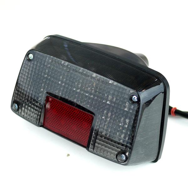 GSX400Sカタナ GSX250Sカタナ用LEDテールランプ スモークレンズ 刀 ナンバー灯付き