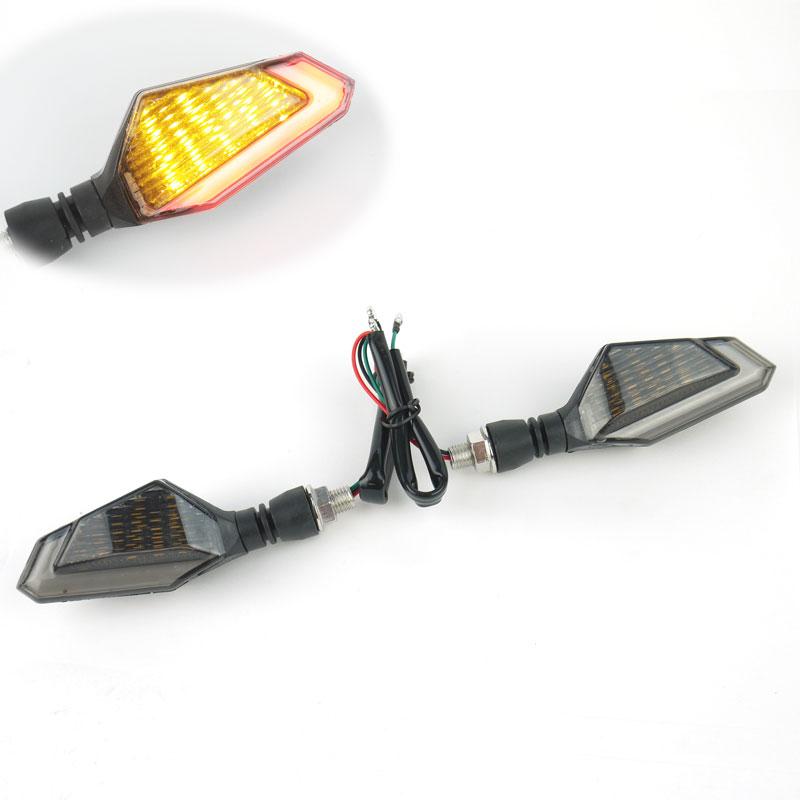 デュアルカラー LEDウインカー TYPE5 レッド 左右セット
