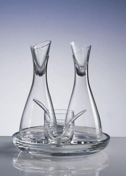 クリスタルガラス 調味料5点セット Vilca イタリア