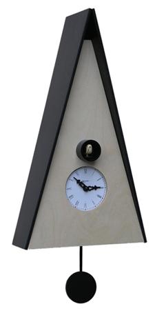 カッコーが鳴いて時刻を知らせます! 鳩時計カッコークロック イタリア・ピロンディーニNorimberga102nero