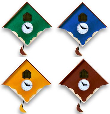 カッコーが鳴いて時刻を知らせます!鳩時計 カッコークロック イタリア・ピロンディーニChalet103