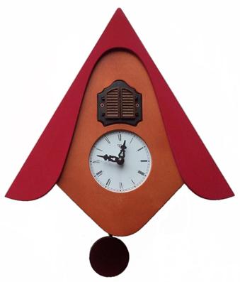 カッコーが鳴いて時刻を知らせます!鳩時計 カッコークロック イタリア・ピロンディーニCucuW105RD