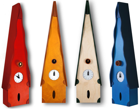 カッコーが鳴いて時刻を知らせます!鳩時計 カッコークロック イタリア・ピロンディーニTitti107