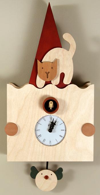 カッコーが鳴いて時刻を知らせます!鳩時計 カッコークロック イタリア・ピロンディーニ Micio112
