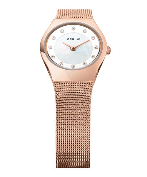 BERING腕時計 ベーリングリストウォッチ レディース Classic Curving Mesh 11923-366