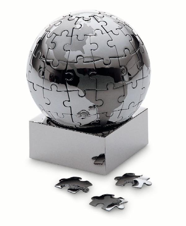 遊んでも飾ってもお洒落!地球儀パズル φ7.5cm Philippi 136015