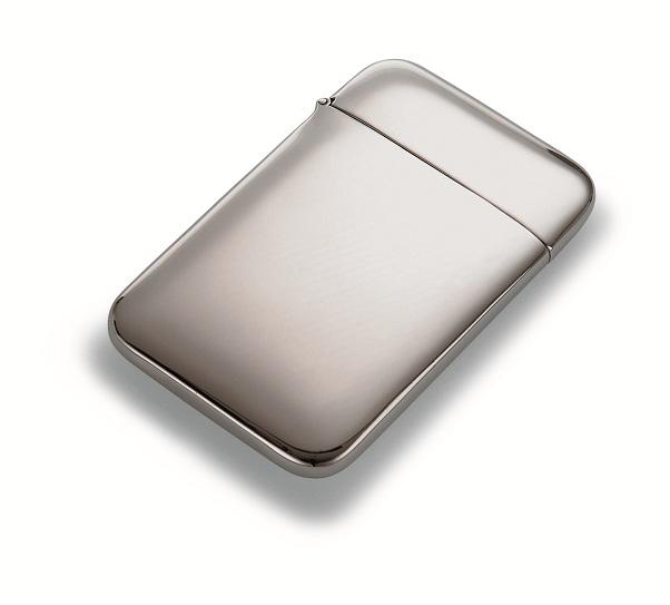 曲面が綺麗なステンレスカードケース ミラーポリッシュ Philippi 142003