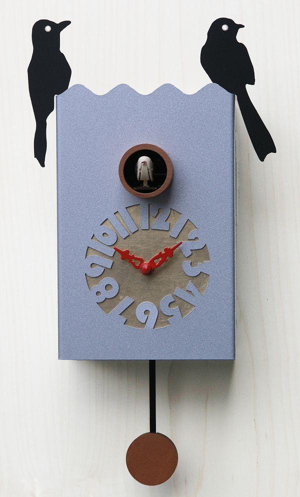 鳩時計 カッコーが鳴いて時刻を知らせます! Pirondini  カッコークロック イタリア・ピロンディーニDuetto156Allu