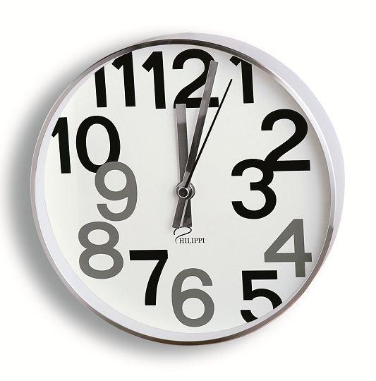 斬新な文字デザインの掛け時計NUMBERS Philippi 183004