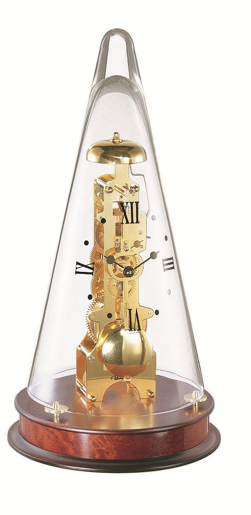 ムーブメントが見えるスケルトンデザイン!ヘルムレ(HERMLE)置き時計 Leyton マホガニーブラウン 22716-070791