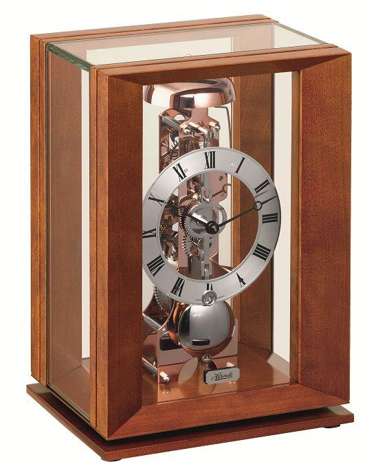 ムーブメントが見えるスケルトンデザイン!ヘルムレ(HERMLE)機械式報時置き時計  23011-160791
