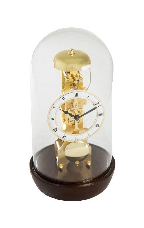 ムーブメントが見えるスケルトンデザイン!ヘルムレ(HERMLE)置き時計 ウォルナット 23018-030791 振り子置き時計